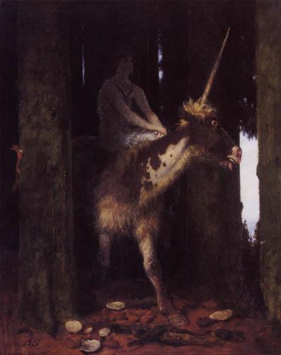 Arnold Böcklin - Unicorn