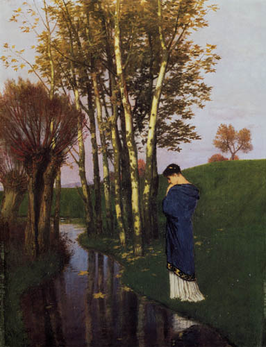 Arnold Böcklin - Autumn thoughts