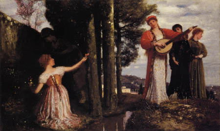 Arnold Böcklin - See, everything laughs the plain