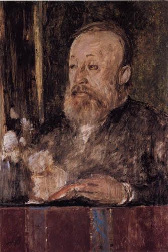 Arnold Böcklin - Portrait of Gottfried Keller