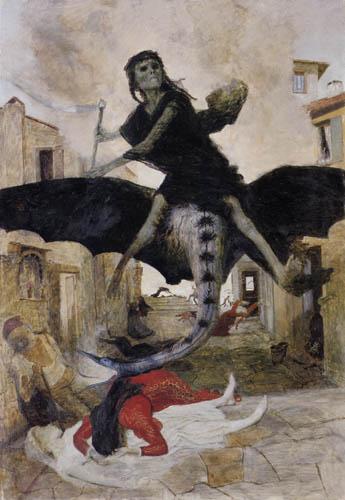 Arnold Böcklin - The plague
