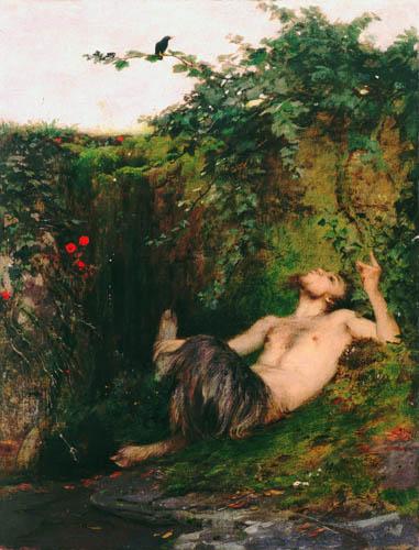 Arnold Böcklin - El fauno