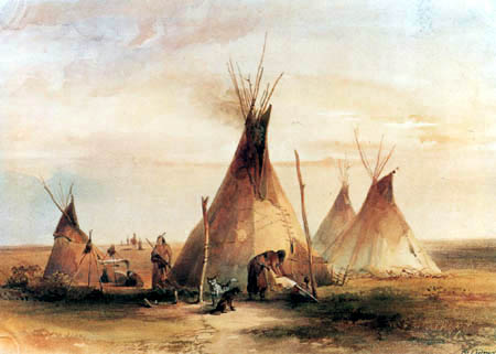 Karl Bodmer - Sioux Lager