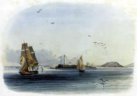 Karl Bodmer - Der Leuchtturm von Boston