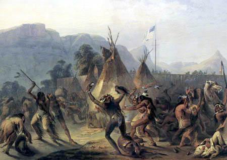 Karl Bodmer - Fort MacKenzie