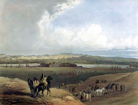 Karl Bodmer - Fort Union am Missouri