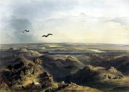 Karl Bodmer - Junction of the Yellow Stone River with the Missouri