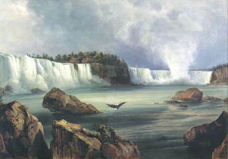 Karl Bodmer - Die Niagara-Fälle