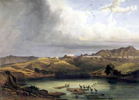 Karl Bodmer - The White Castles on the Upper Missouri