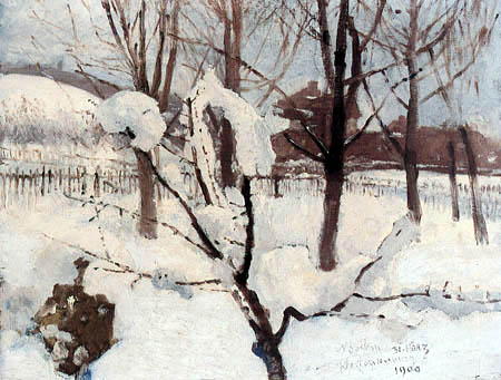 Adolf Michael Boehm - Wintry Garden