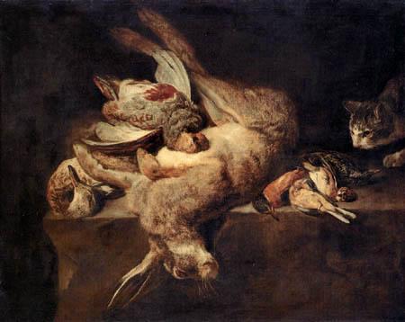 Pieter Boel - Stillleben mit totem Hasen