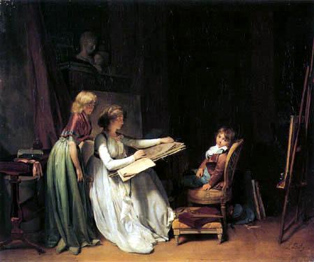 Louis-Léopold Boilly - Malerin im Atelier