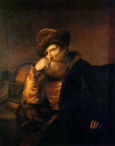 Ferdinand Bol - A old man with a globe