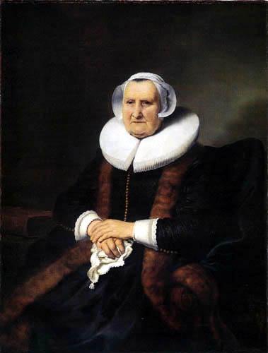 Ferdinand Bol - Portrait of Elisabeth Jacobsdr. Bas