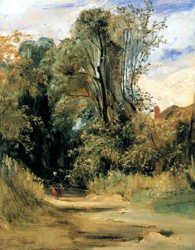 Richard Parkes Bonington - Une voie de forêt