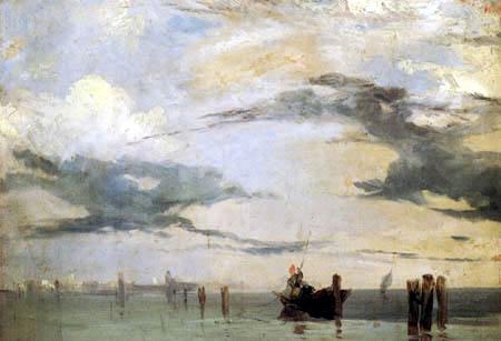 Richard Parkes Bonington - Lagune bei Venedig
