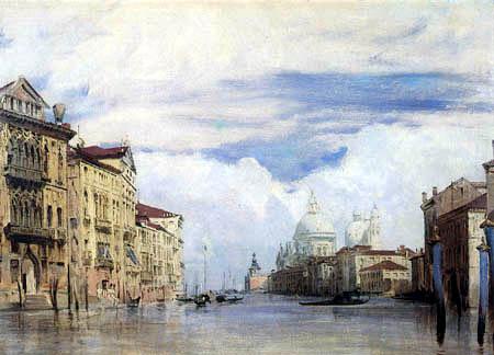 Richard Parkes Bonington - Canal Grande et Santa Maria della Salute