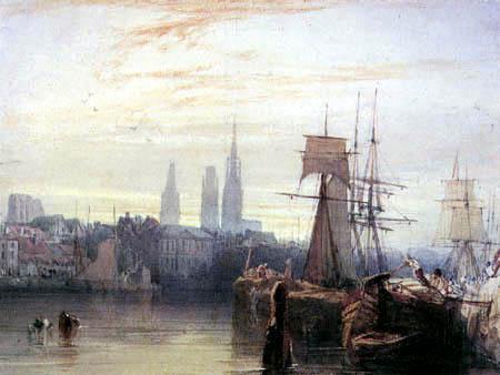 Richard Parkes Bonington - Im Hafen von Rouen