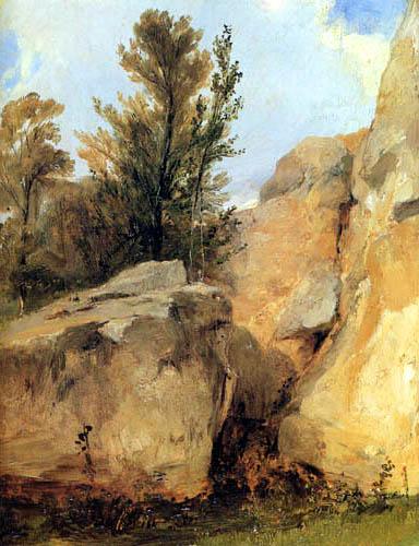 Richard Parkes Bonington - In den Wäldern von Fontainebleau