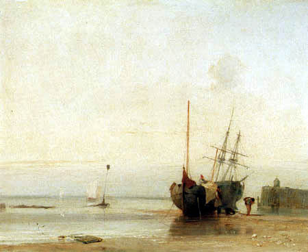 Richard Parkes Bonington - Coastal landscape, Normandy