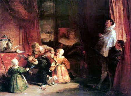 Richard Parkes Bonington - Henri IV. und der Spanische Botschafter