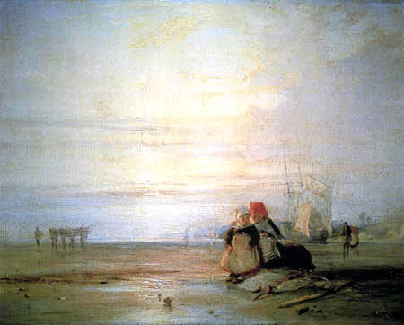 Richard Parkes Bonington - French coast with Fishers