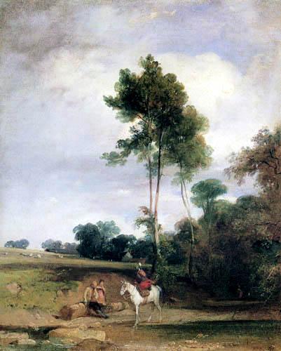 Richard Parkes Bonington - Rest at the roadside