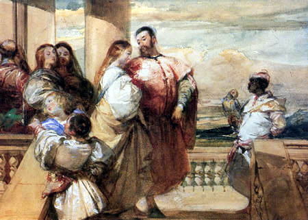 Richard Parkes Bonington - Venezianische Szene