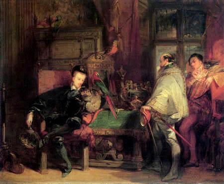 Richard Parkes Bonington - Henri III. empfängt Don John von Österreich
