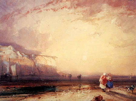 Richard Parkes Bonington - Sunset , Pays de Caux