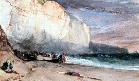 Richard Parkes Bonington - La falaise