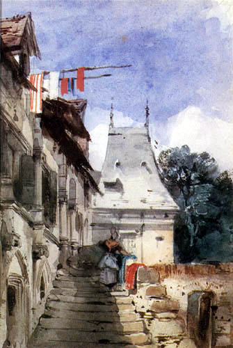 Richard Parkes Bonington - The abbey of St. Armand, Rouen