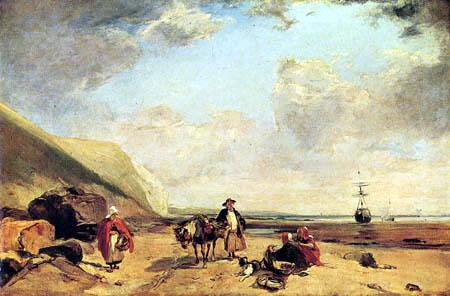 Richard Parkes Bonington - Des pêcheurs sur la côte normande