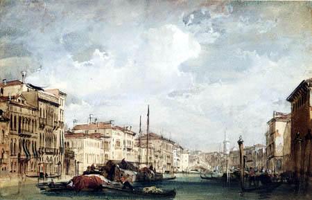 Richard Parkes Bonington - The Grand Canal, Venice