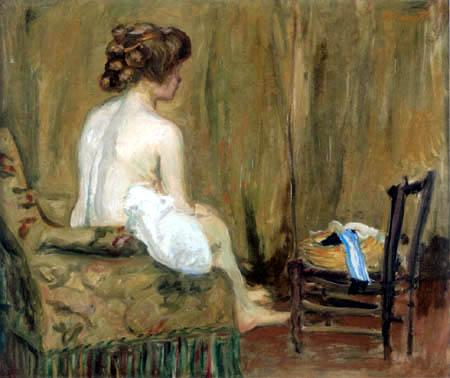 Pierre Bonnard - Weiblicher Akt im Sessel