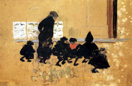Pierre Bonnard - On the way to school