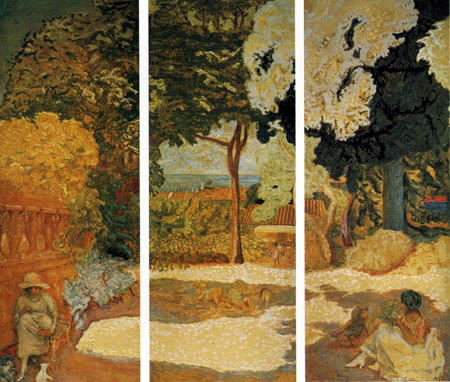 Pierre Bonnard - On the Mediterranean, Triptych