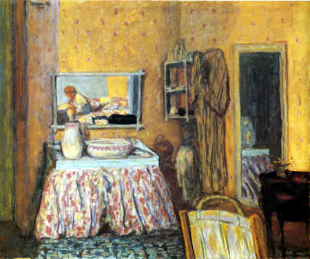 Pierre Bonnard - Bathroom mirror