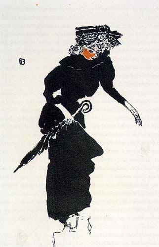 Pierre Bonnard - Lady with umbrella