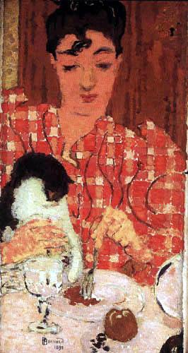 Pierre Bonnard - Madame Terrasse im karierten Mieder