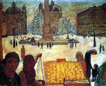 Pierre Bonnard - The People's Square in Rome