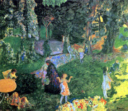 Pierre Bonnard - The family in the garden