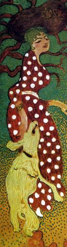 Pierre Bonnard - Frauen im Garten, Panel 1