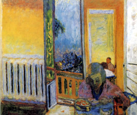 Pierre Bonnard - Breakfast near the radiator