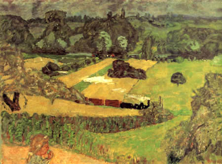 Pierre Bonnard - The train and the barges