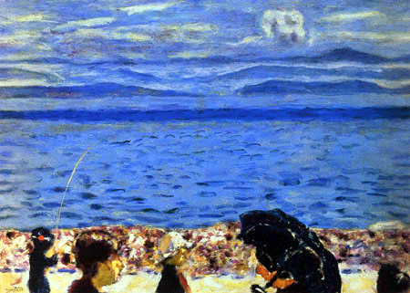 Pierre Bonnard - The beach, Blue sea