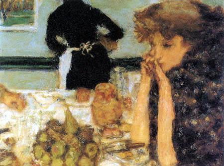 Pierre Bonnard - Misia beim Frühstück