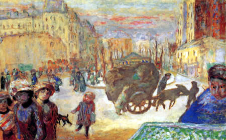 Pierre Bonnard - In the morning in Paris