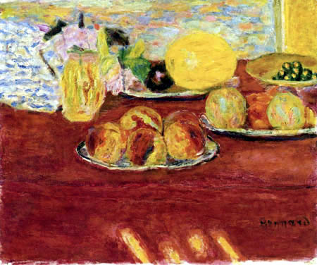 Pierre Bonnard - Still life with melons