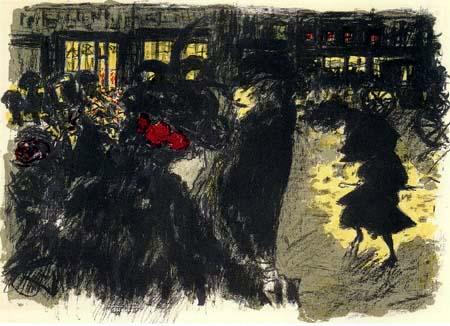 Pierre Bonnard - Platz am Abend